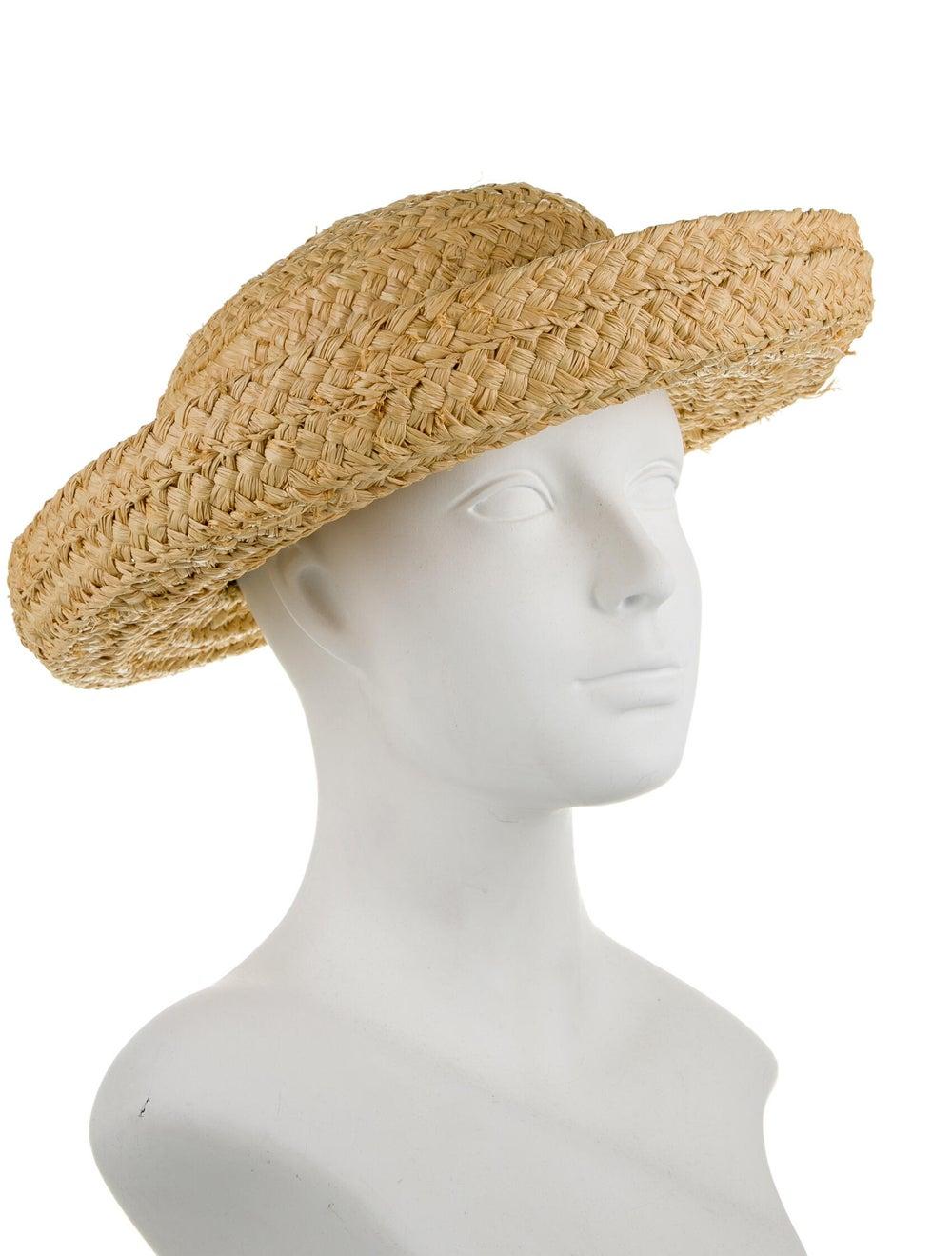 Helen Kaminski Straw Wide Brimmed Hat Tan - image 3