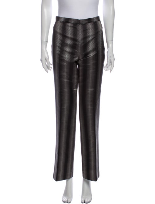Iceberg Striped Wide Leg Pants Grey