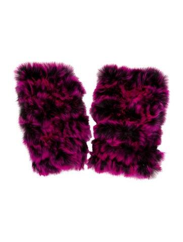 Jocelyn Fur Knit Arm Warmers w/ Tags None