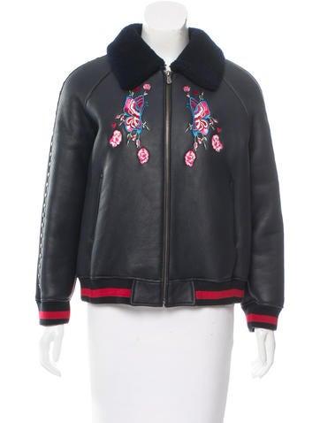 Jocelyn Embroidered Shearling Jacket