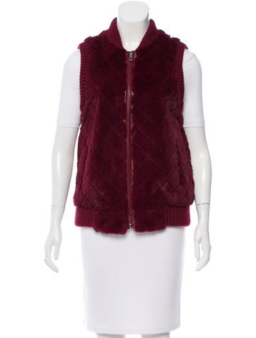 Jocelyn Quilted Rib Knit Vest None