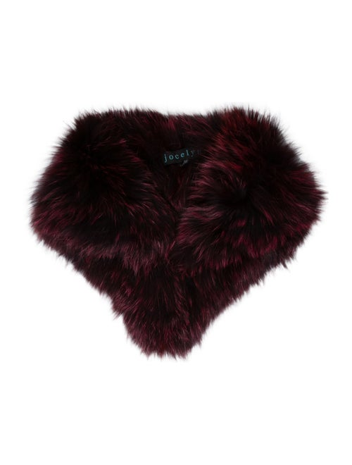 Jocelyn Fur Snood Plum