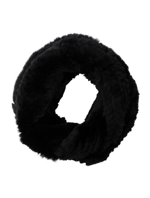 Jocelyn Fur Snood Black