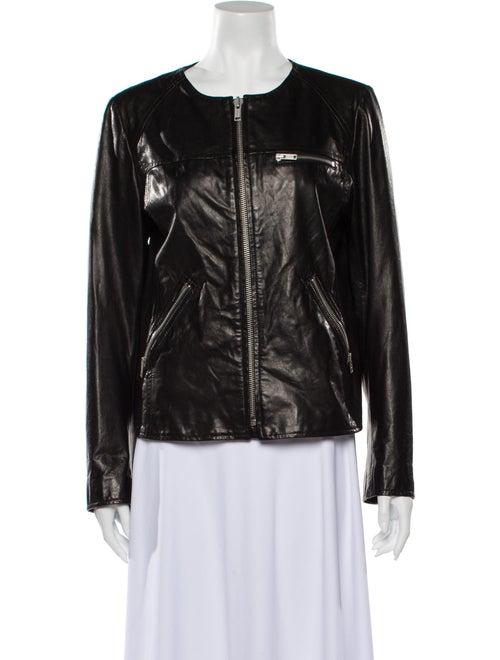 June Leather Biker Jacket Black