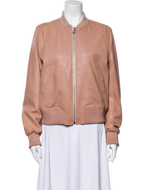 June Leather Bomber Jacket Pink