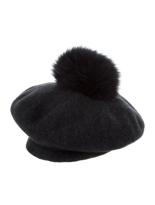 Lola Wool Pom-Pom Beret Grey - image 1