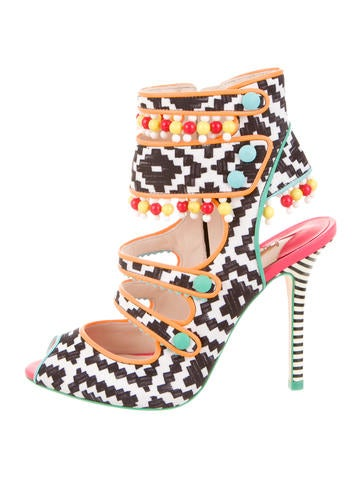 Amma Aztec Cage Sandals w/ Tags