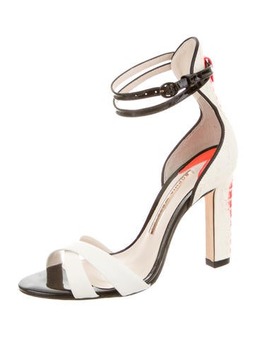 Nicole Embossed Leather Sandals w/ Tags
