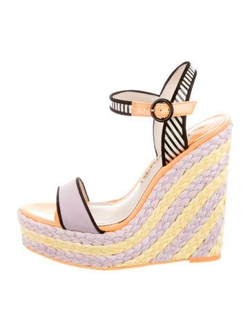 Suede Wedge Sandals
