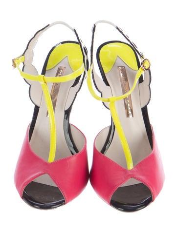 Colorblock T-Strap Sandals