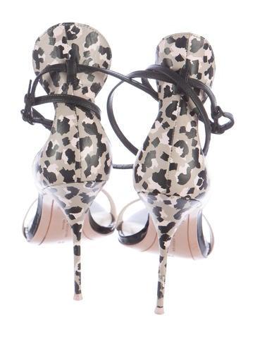 Leopard Print Ankle-Strap Sandals