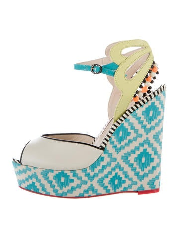 Lula Printed Wedge Sandals
