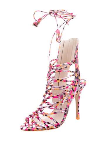 Metallic Cage Sandals