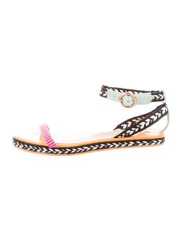 Patent Leather Espadrille Sandals