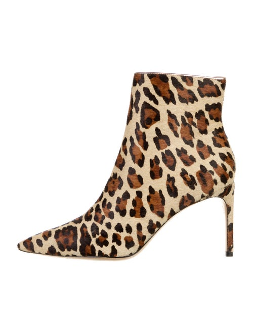 Sophia Webster Calf Hair Animal Print Boots