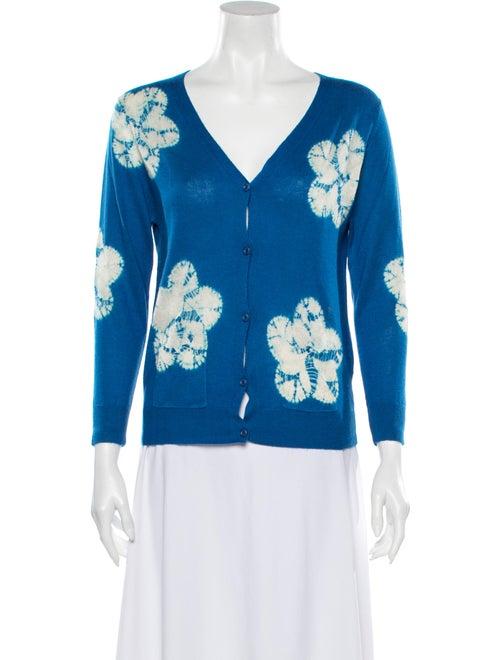 Samantha Sung Cashmere Tie-Dye Print Sweater w/ Ta