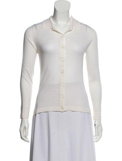 Samantha Sung Collar Sweater White
