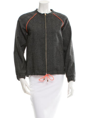 Laveer Wool Contrast-Trimmed Jacket w/ Tags None