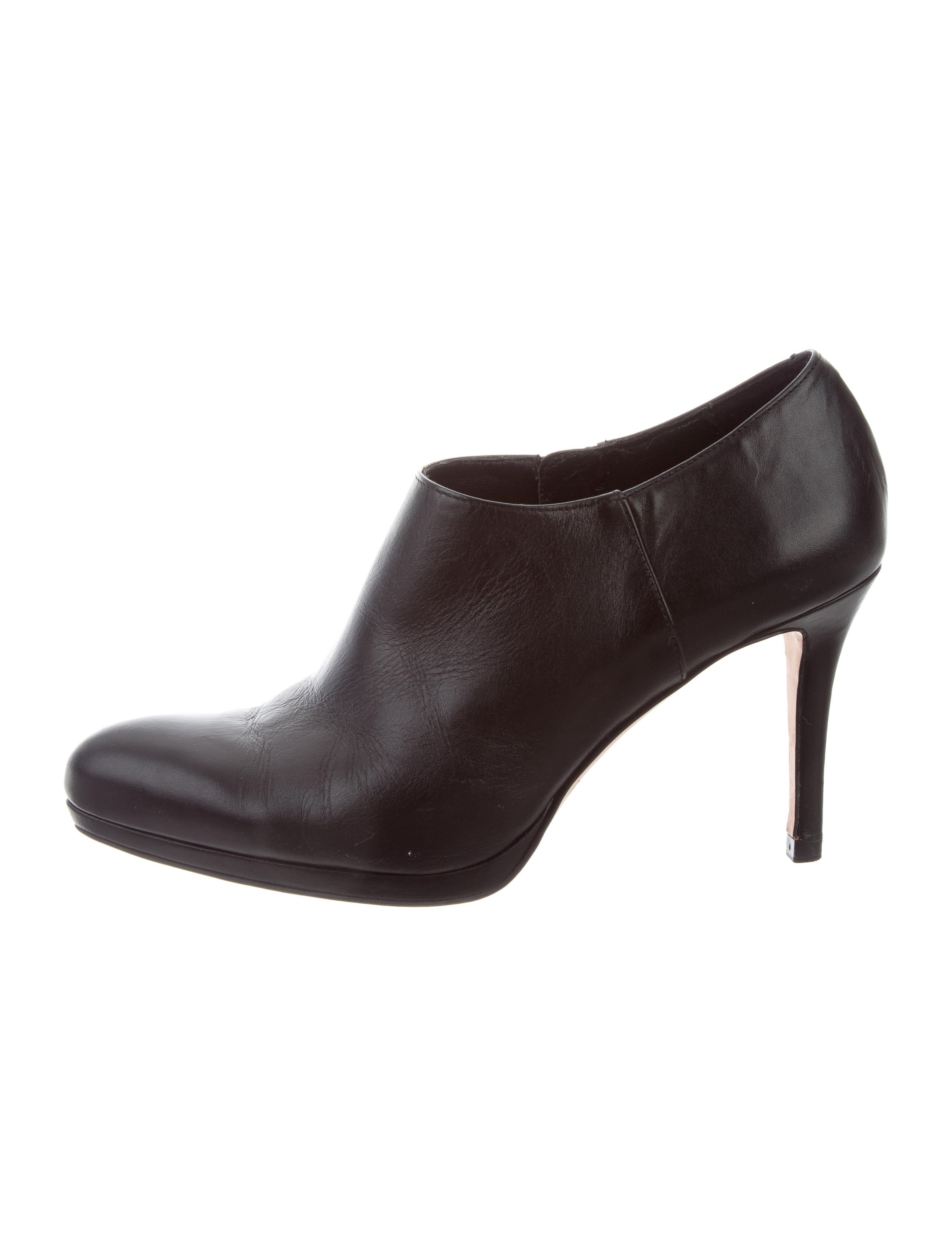 L.K. Bennett Leather Round-Toe Booties cheap price original clearance browse wiki online discount big discount hJ32MtIUD1
