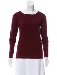 Bateau Neckline Long Sleeve T-Shirt image 1