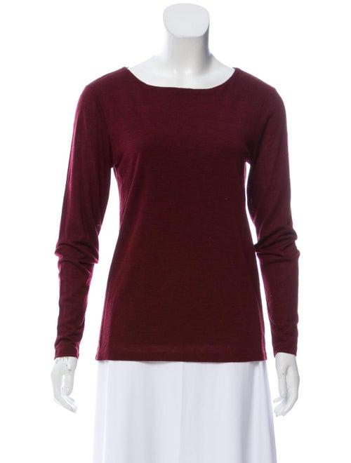 Bateau Neckline Long Sleeve T-Shirt
