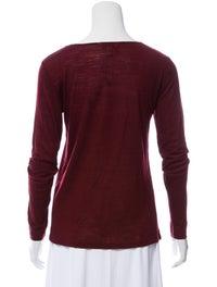 Bateau Neckline Long Sleeve T-Shirt image 3