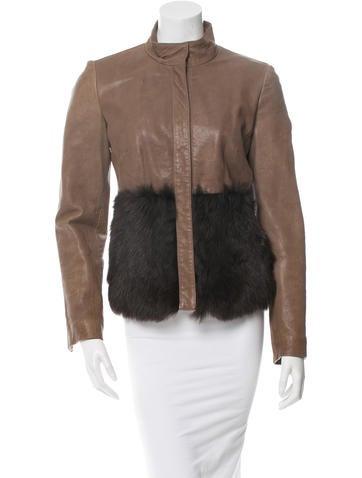 Anna Molinari Leather Jacket None