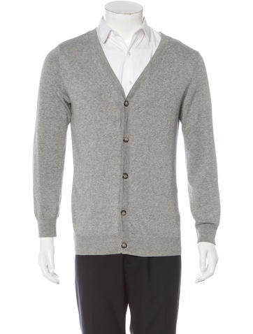 A.P.C. V-Neck Knit Cardigan None