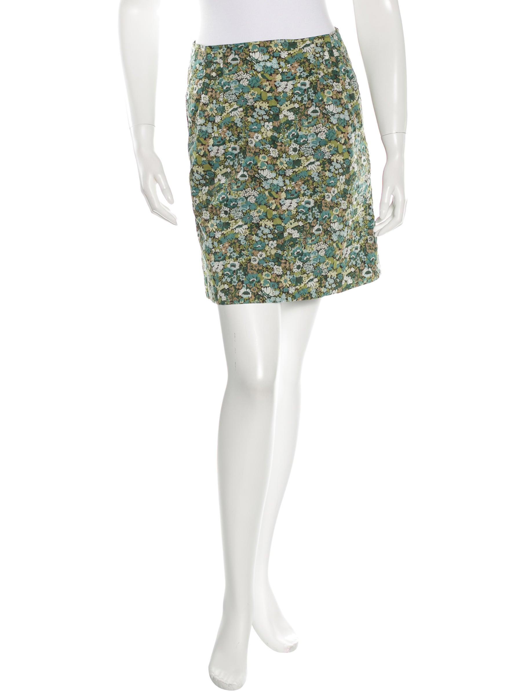 Floral Print Mini Skirt 9