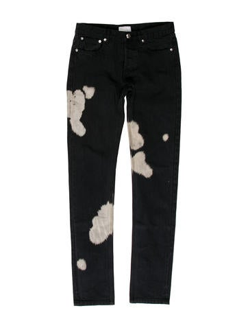 Petit Bleached Straight-Leg jeans w/ Tags