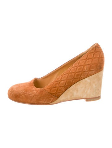 A.P.C. Suede Round-Toe Wedges None