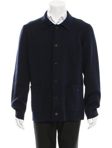 A.P.C. Rib Knit Long Sleeve Cardigan None