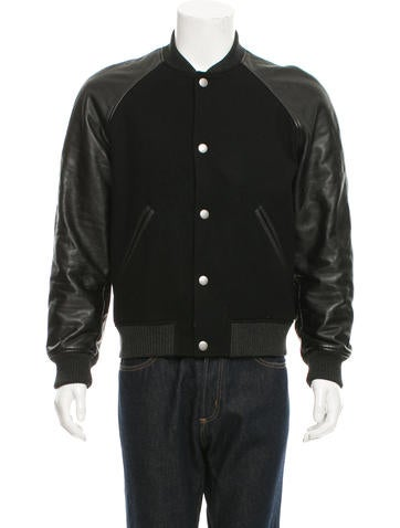 A.P.C. Wool Leather-Trimmed Jacket None