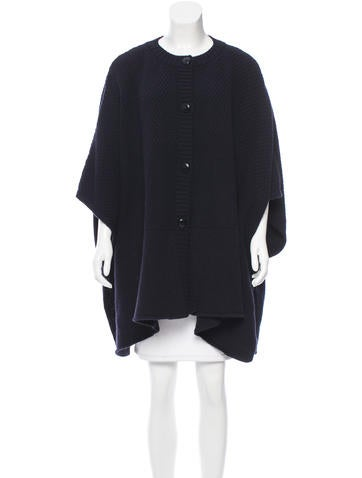 A.P.C. Wool Crochet Poncho None