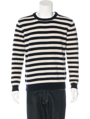 A.P.C. Striped Wool Sweatshirt None