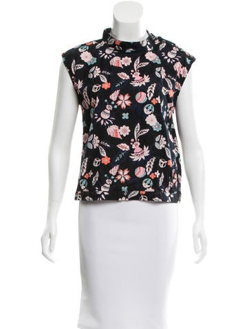 A.P.C. Sleeveless Floral Top