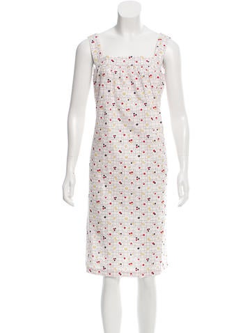 A.P.C. Printed Knee-Length Dress