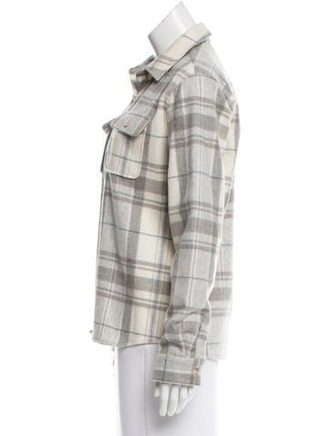 Wool Plaid Top