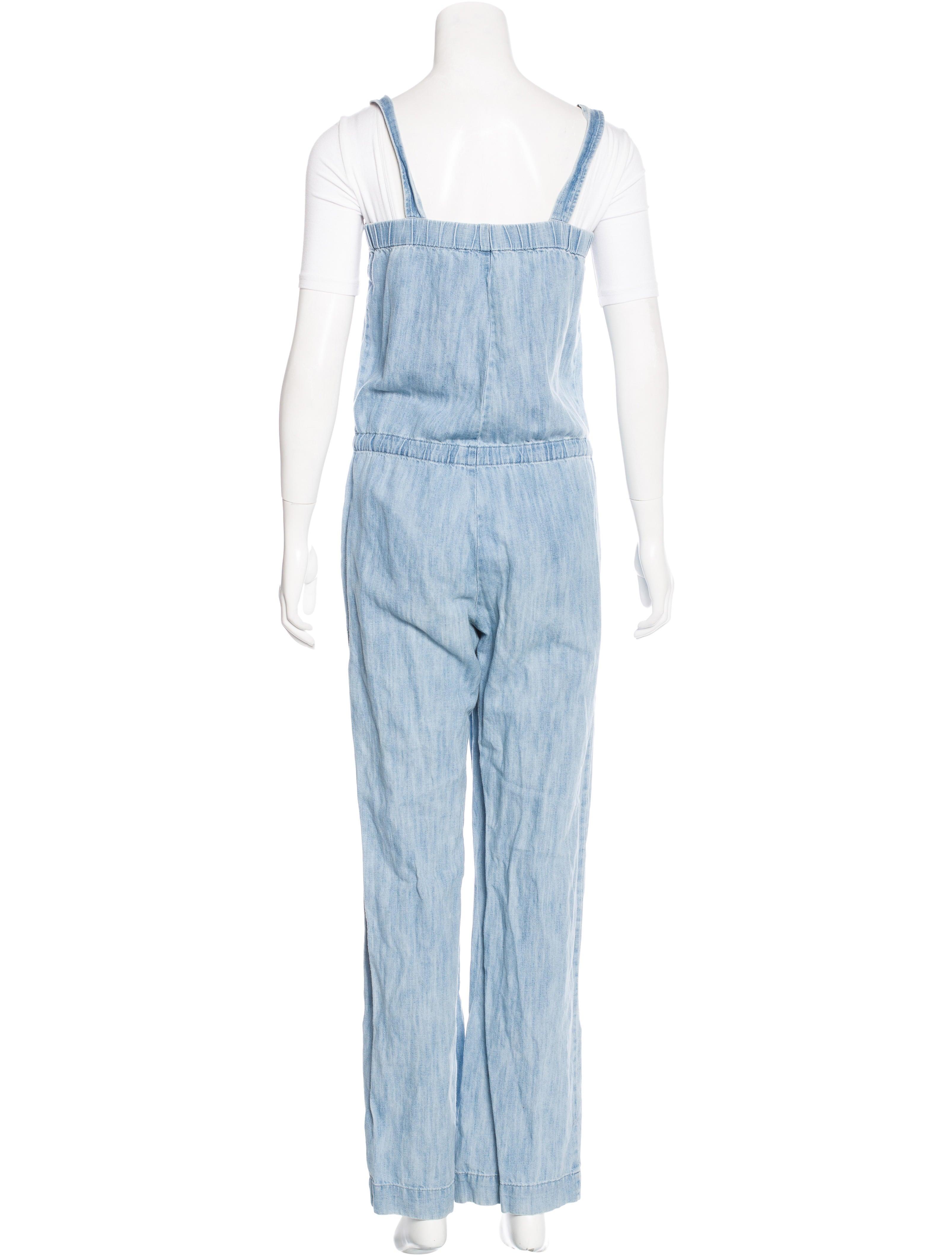 apc sleeveless denim jumpsuit clothing wa324641