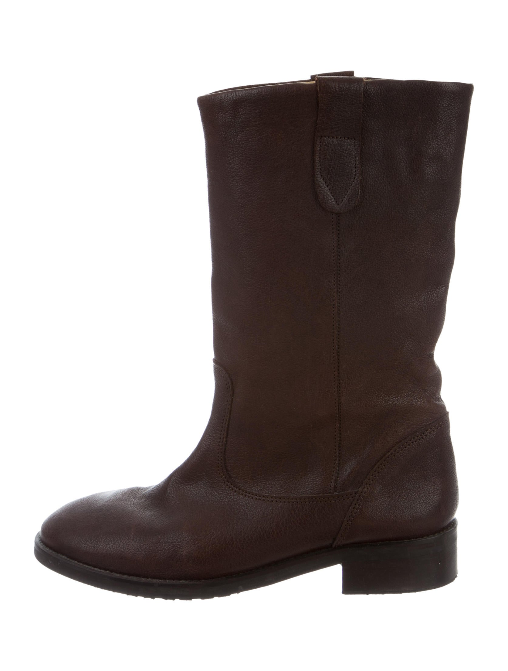 A.P.C. Leather Mid-Calf Boots for nice sale online largest supplier sale online WHkEr
