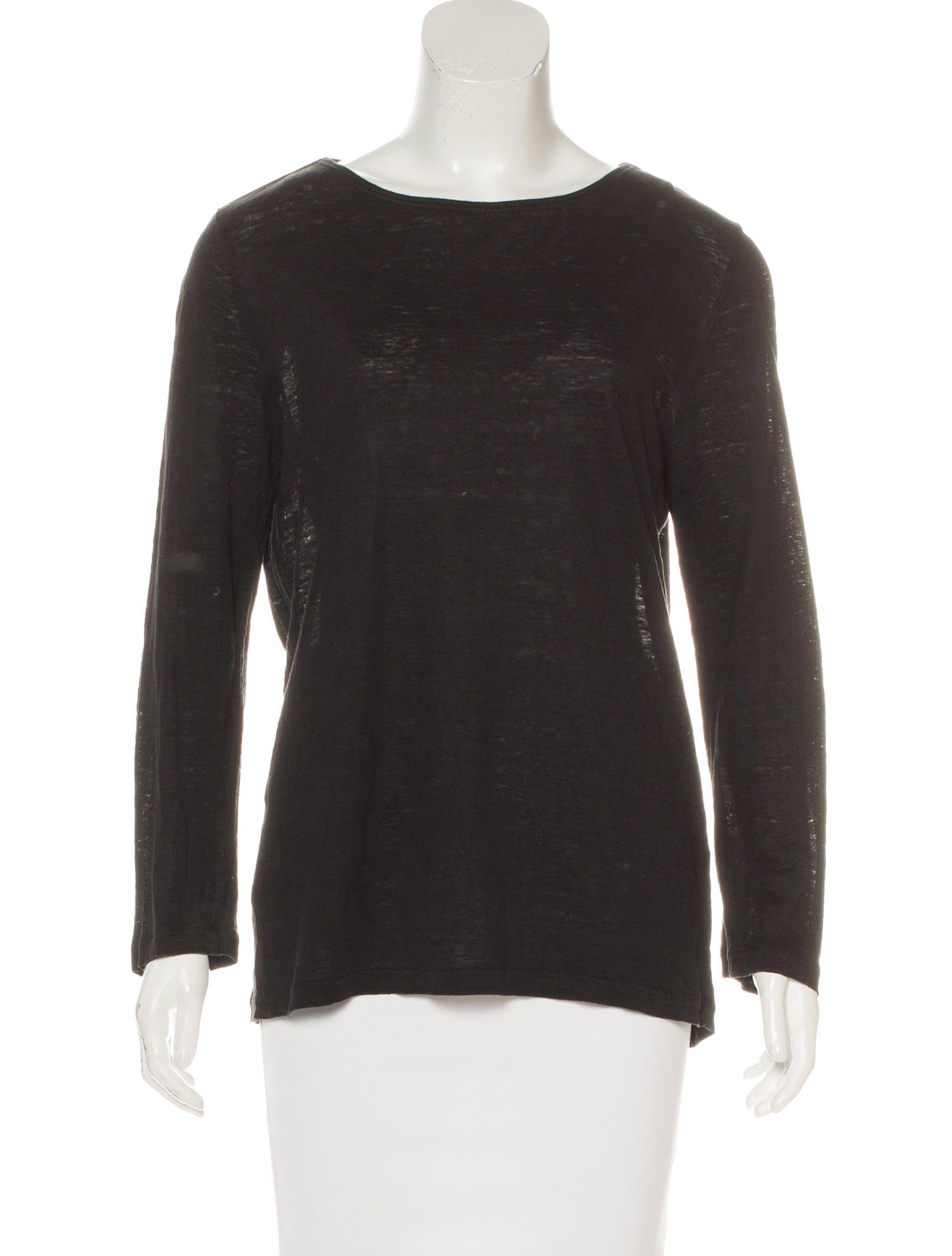 A p c linen long sleeve t shirt clothing wa324863 for Linen long sleeve shirt