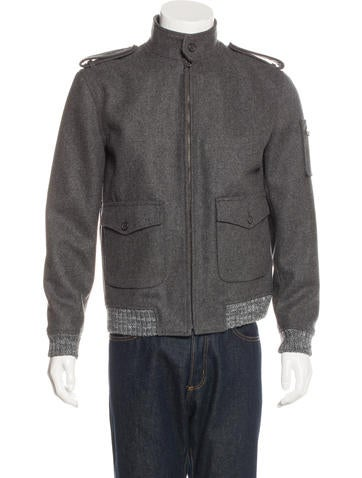 A.P.C. Wool Bomber Jacket None