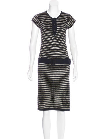 A.P.C. Striped Midi Dress None
