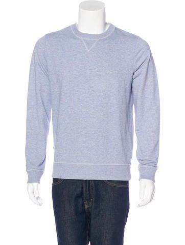 A.P.C. Heathered Crew Neck Sweatshirt None