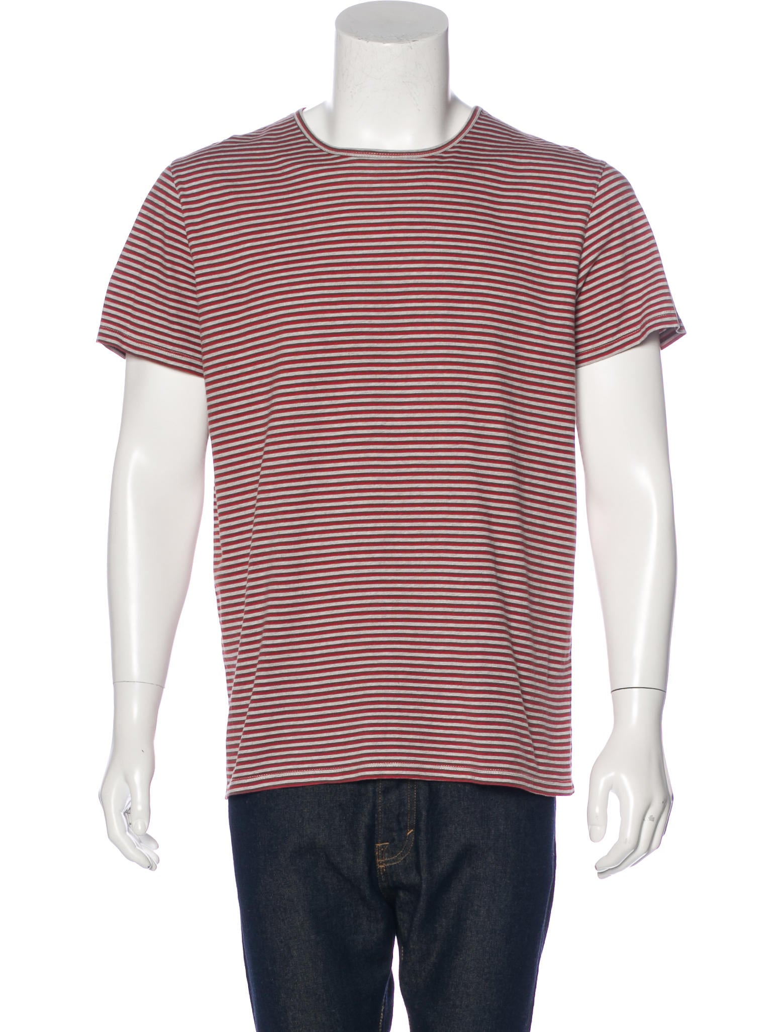 A p c striped scoop neck t shirt clothing wa325705 for Scoop neck t shirt