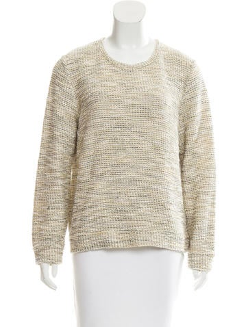 A.P.C. Metallic-Accented Knit Sweater None