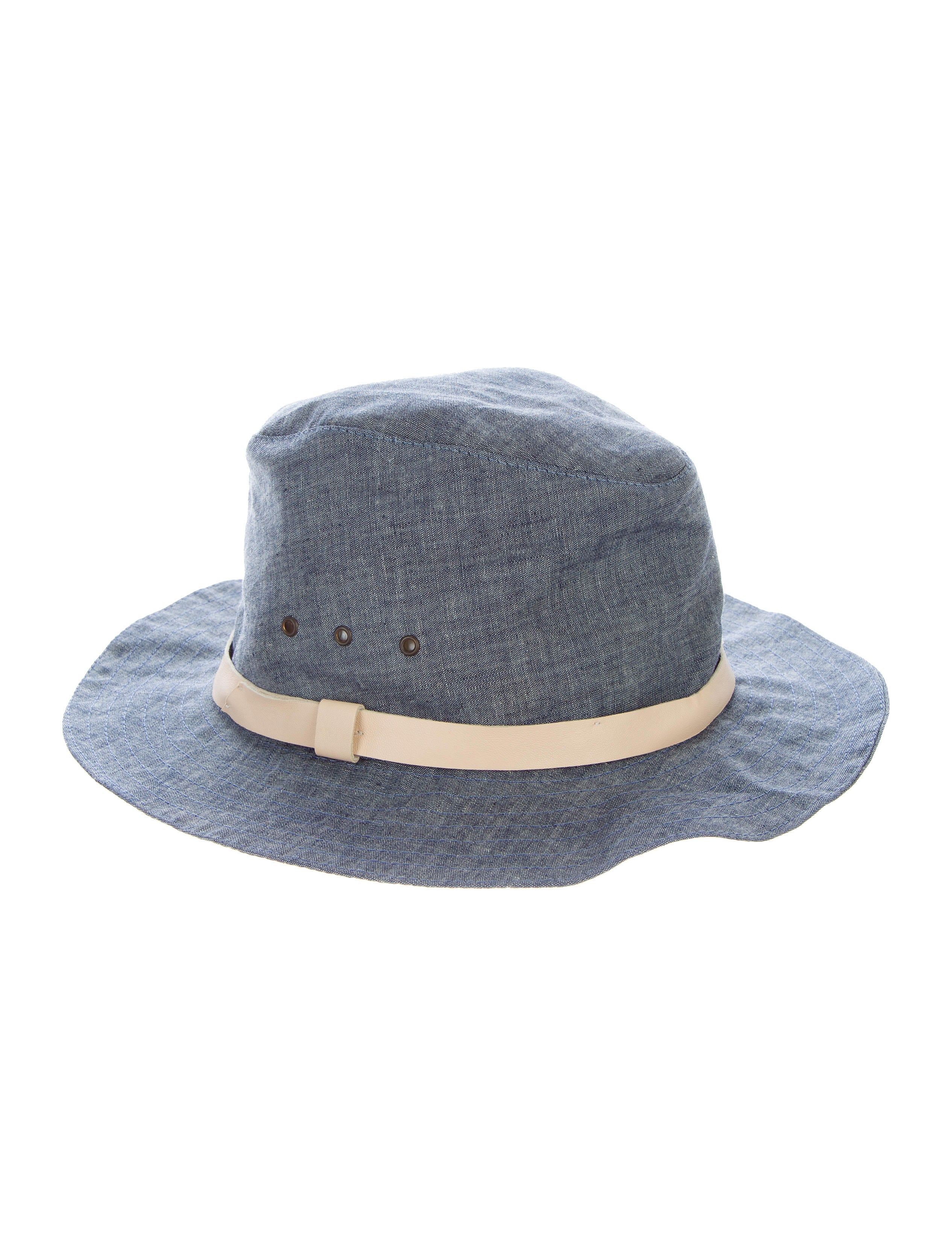 A.P.C. Leather-Trimmed Fedora Hat - Accessories - WA325867  6f328f00973