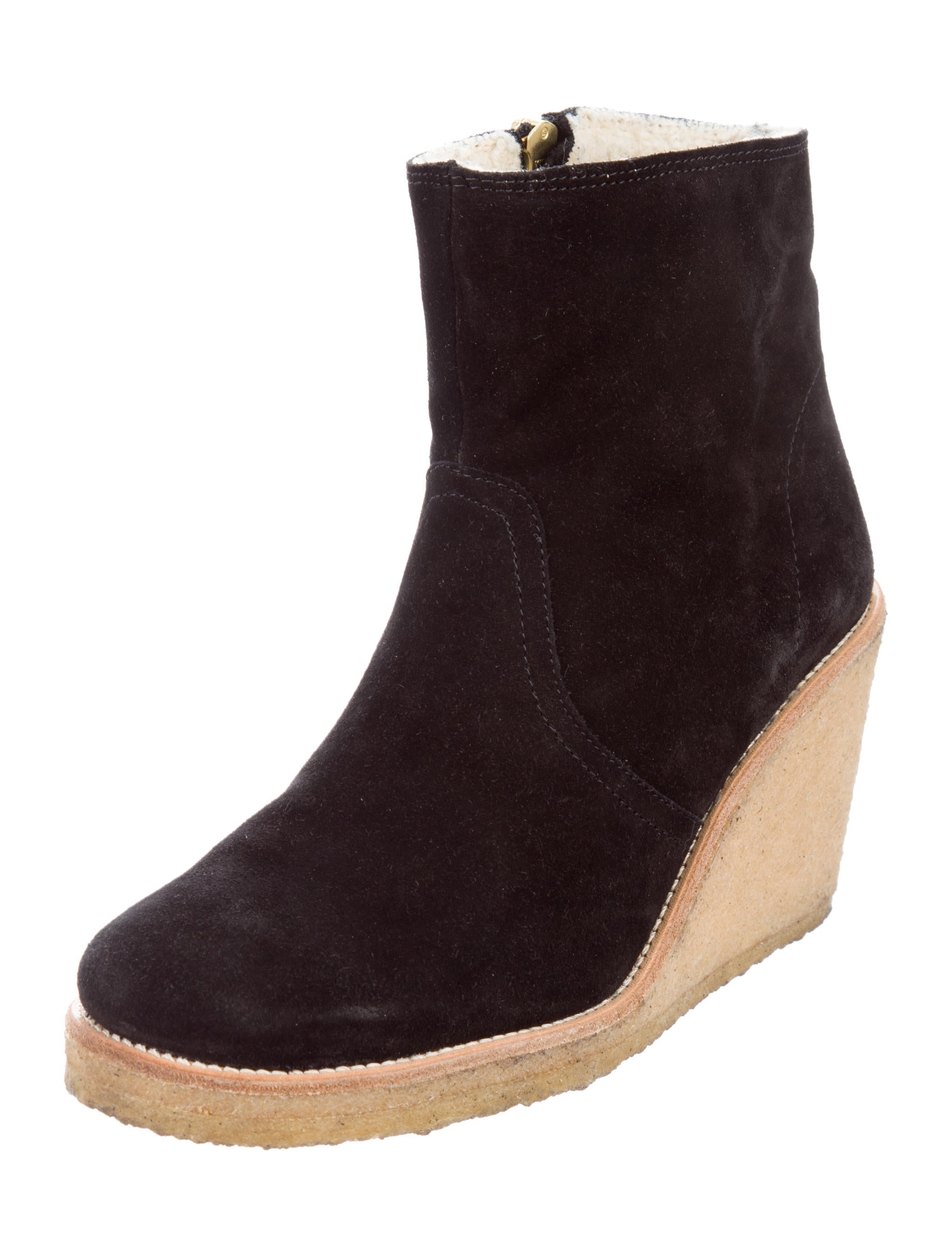 a p c wedge ankle boots shoes wa325955 the realreal