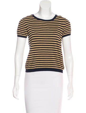 A.P.C. Striped Linen-Blend Top None