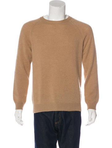 A.P.C. Camel Hair Crew Neck Sweater None